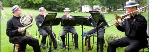 Manotick Brass performing at Harrington Lake