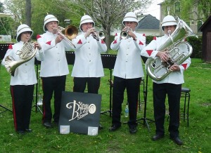 The Village Band entertains on Mill Opening Day