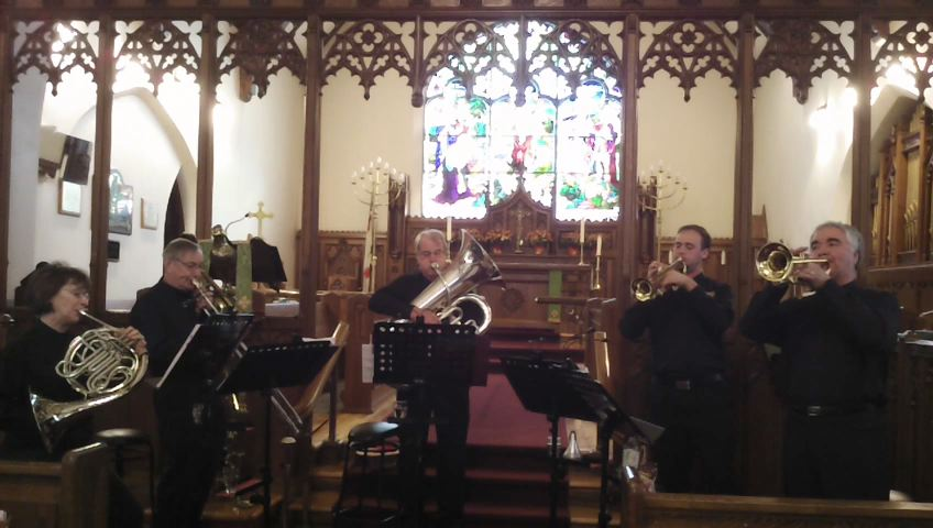 Manotick Brass performs at Holy Trinity Anglican Church, Pembroke