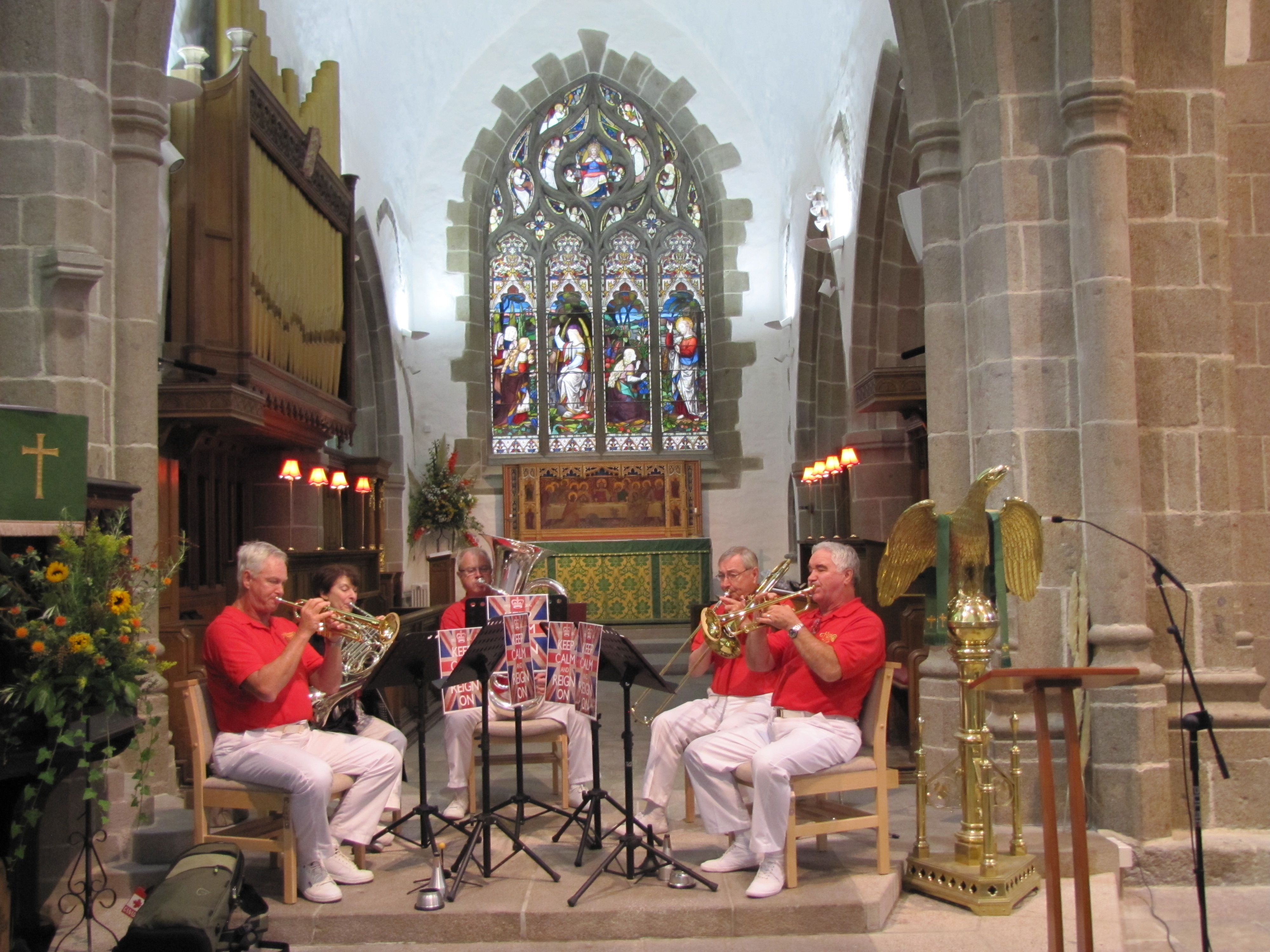 Concert in St. Helier Town Church - photo - M. Lapointe