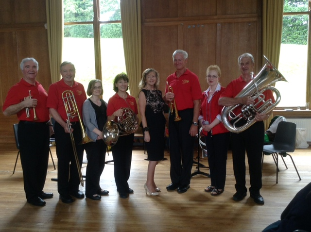 Manotick Brass with teachers at Dominican College