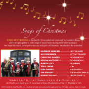 Songs of Christmas CD - Back Cover