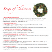 Songs of Christmas CD - Song List 1